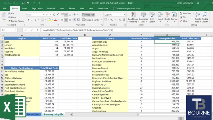 Excel - IF, CountIF, SumIF and AverageIF