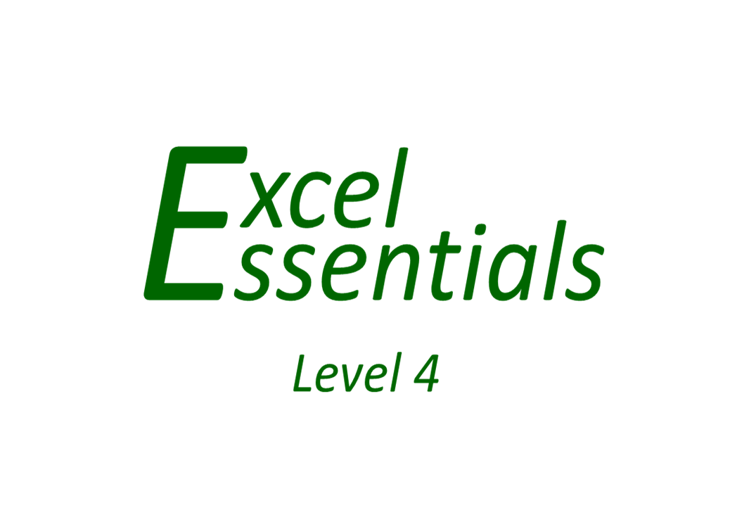 Excel Essentials - Level 4