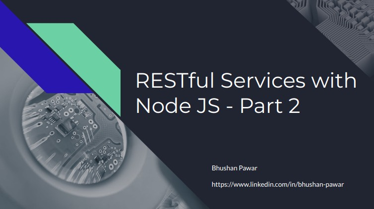 RESTful services with Node JS - Part 2
