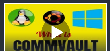 How to get your CommVault v10 working in 2 hours