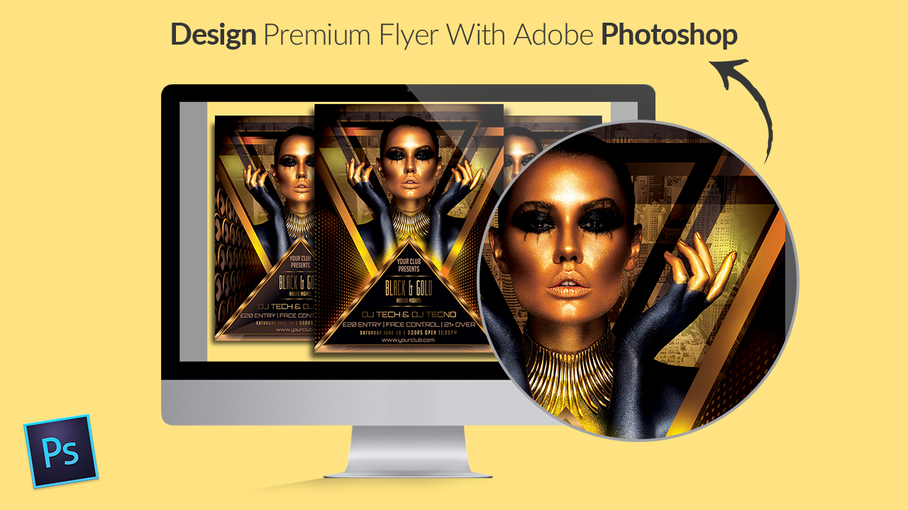 Design Premium Flyer With Adobe Photoshop