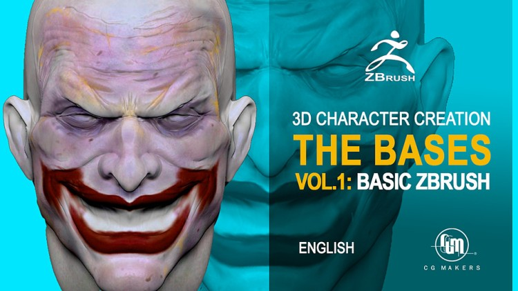 Zbrush Course in Zbrush Vol. 1: Learn Basic Zbrush 3D software