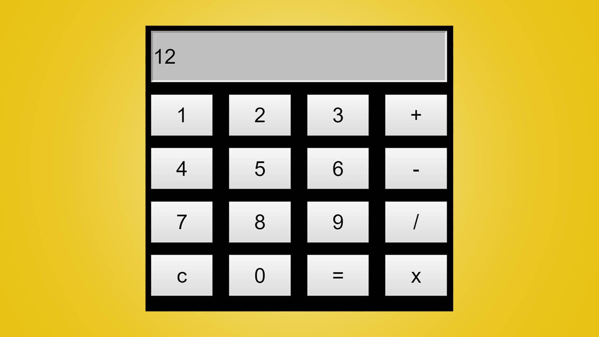 Build a Simple Calculator using HTML, CSS and Javascript