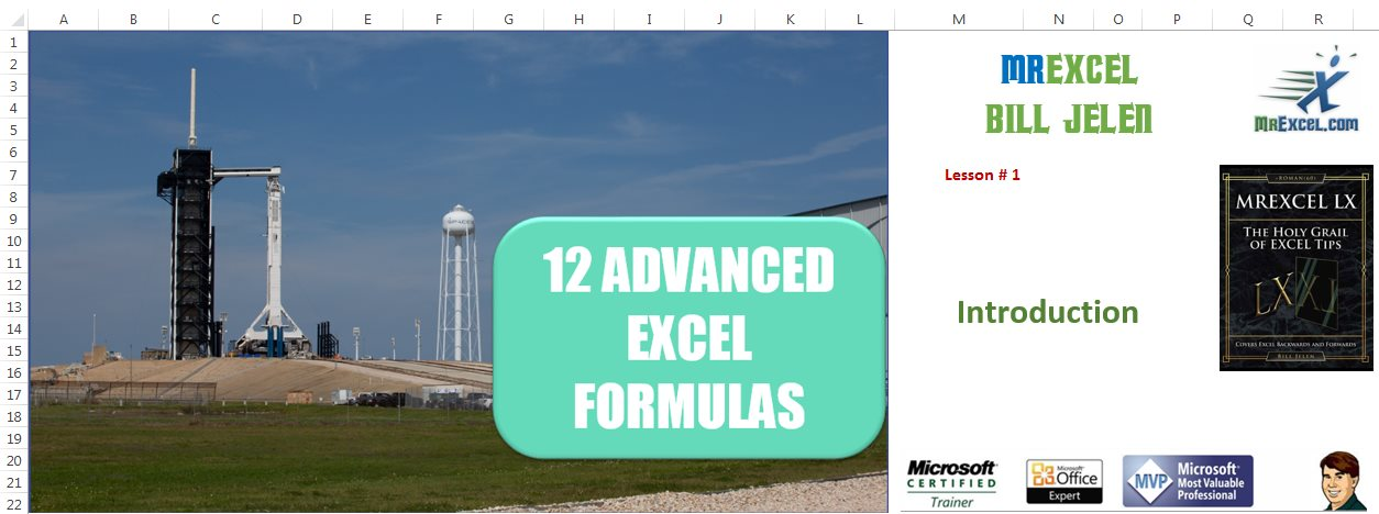12 Advanced Excel Formulas