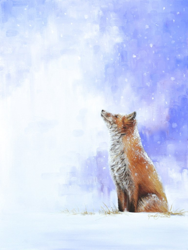 Learn to Paint a Fox in Snow Step-by-Step!