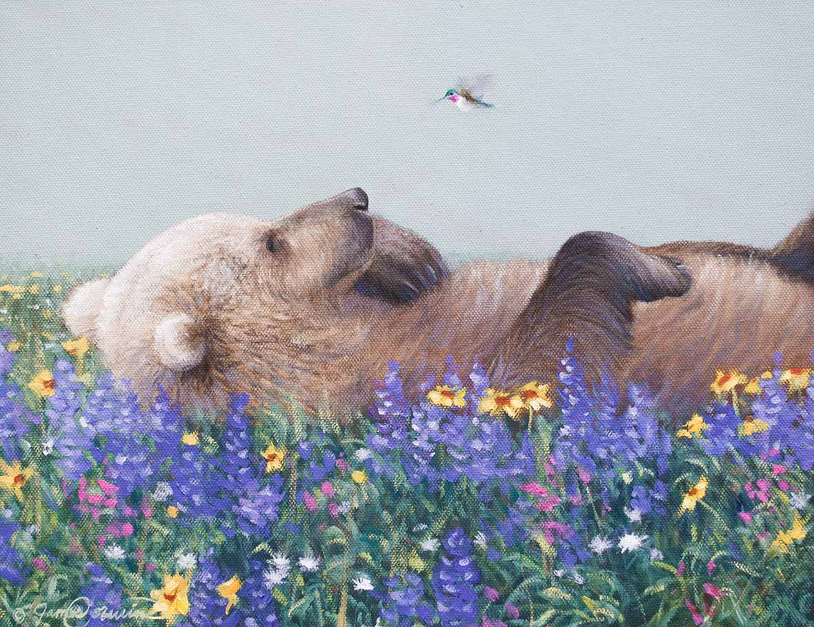 Learn to Paint a Bear and Hummingbird Step-by-Step