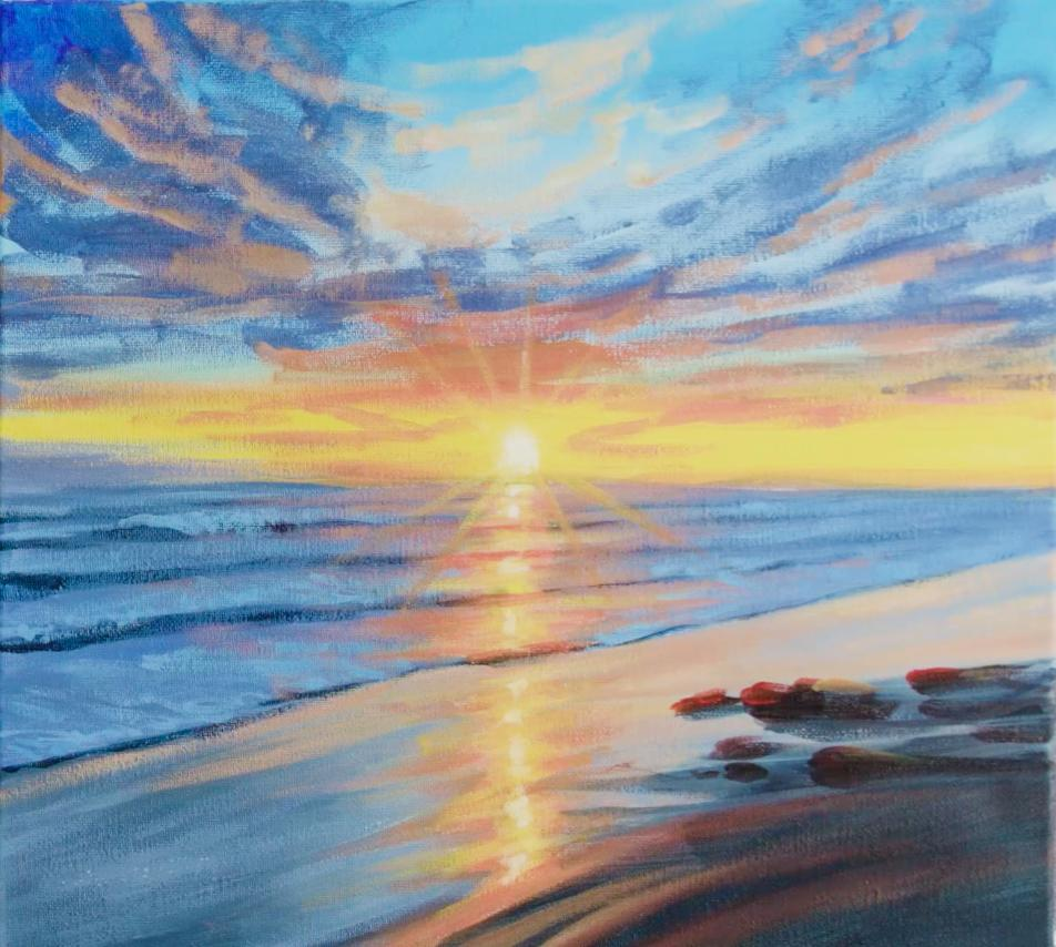 Learn to Paint a Beach Sunset Step-by-Step