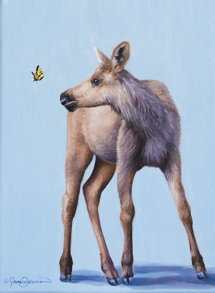 Learn to Paint a Moose and Butterfly Step-by-Step