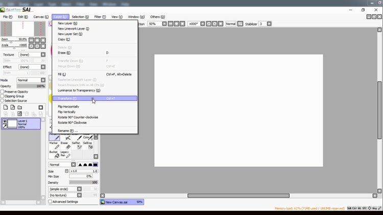 Paint Tool SAI basics