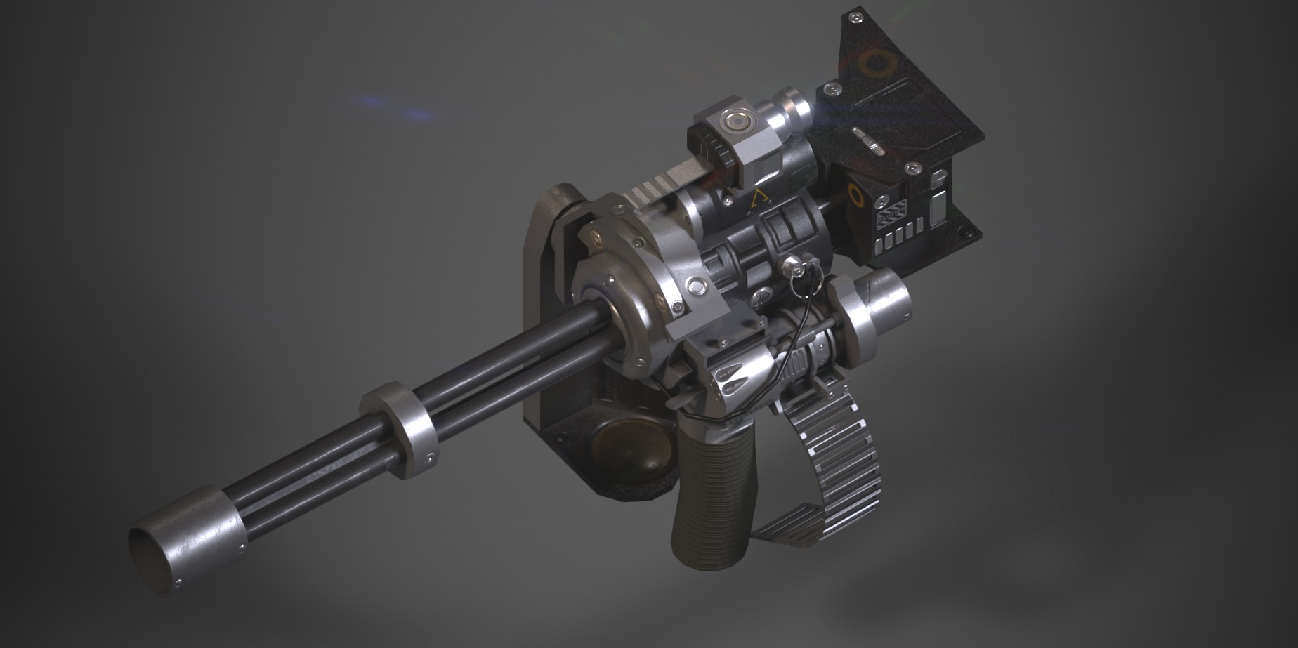 How to Prepare, Texture, and Render a Game Poly Weapon