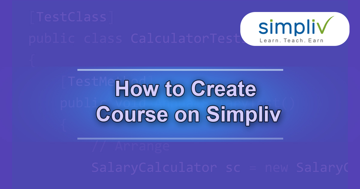 How to Create Course on SImpliv
