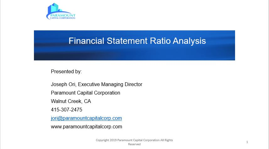 Financial Statement Ratio Analysis