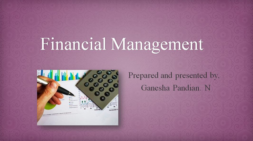 Foundation of Finance - Concepts and Theories