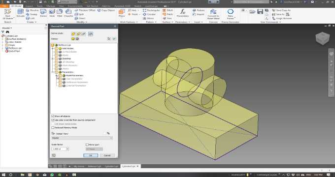 Introduction to Skeletal Modeling Applied on an Assembly using Autodesk Inventor