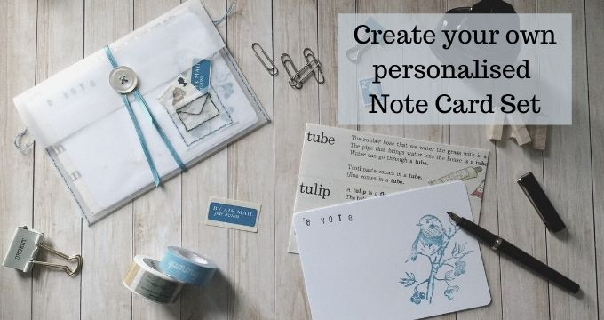 Create Your Own Personalized Note Card Set, incl. Envelopes & Pocket Folder