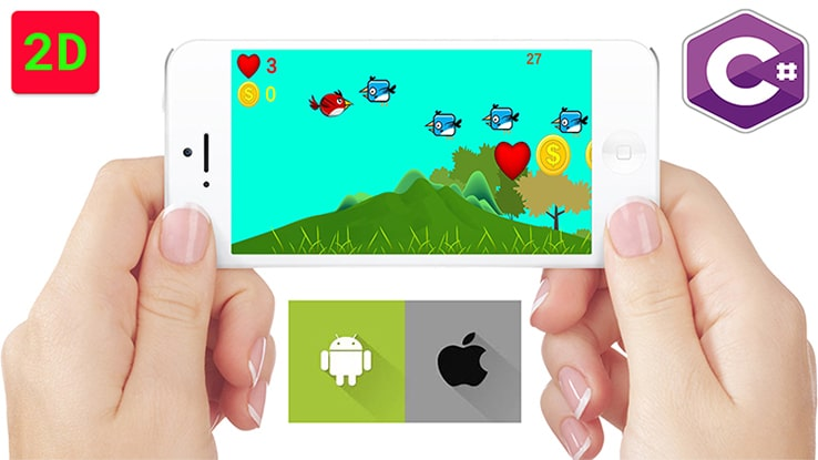Android Game Development: Build Two 2D Game with Unity C#