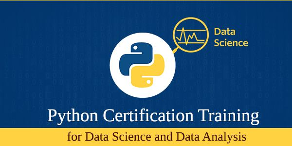 Python Certification training for Data Science and Data Analysis