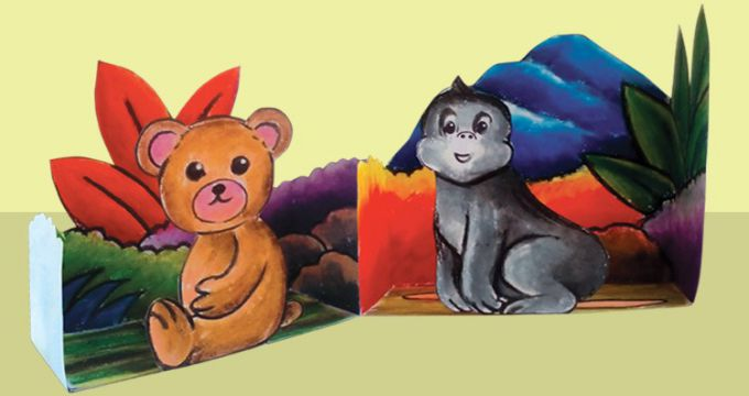 Create 3D Craft Wild Animal Themes for Beginners and Children