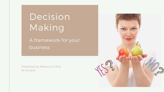 A Framework For Simple Decision Making