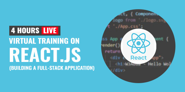 4 Hour Live Training on React.js: Building a Full-Stack Application