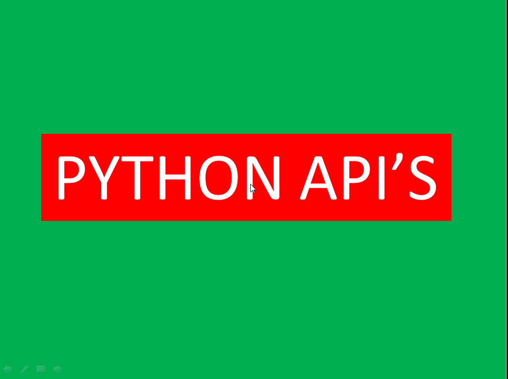 Mastering Python API's Programming for freshers and Developers