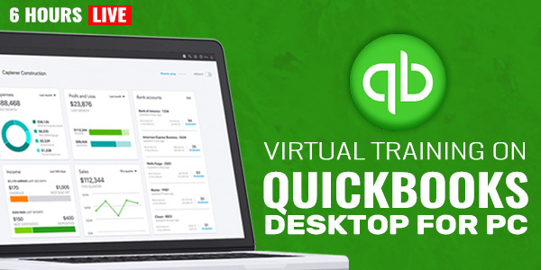 2 Days Live Virtual Training on QuickBooks Desktop for PC