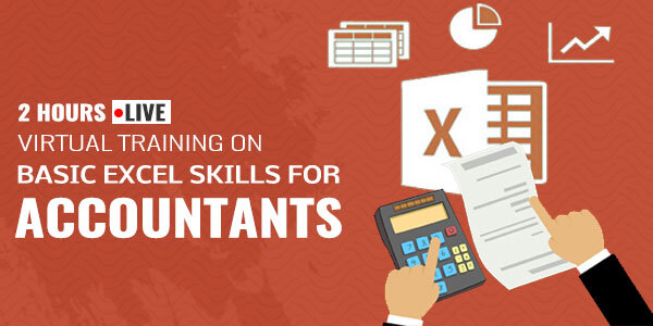 2 Hour Live Virtual Training on Basic Excel Skills for Accountants