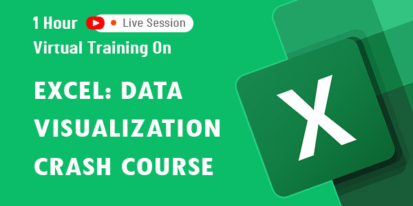 1 hour virtual training on Excel: Data Visualization Crash Course