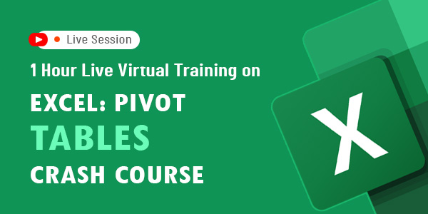1 Hour Live Virtual Training on Excel: Pivot Tables Crash Course