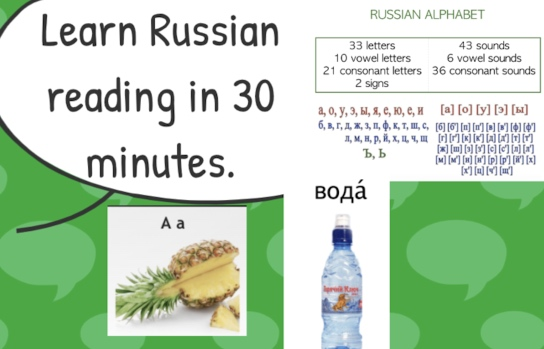 Learn Russian Reading in 30 Minutes