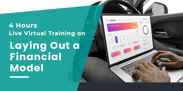2 Hours Live Virtual Training on Laying Out a Financial Model