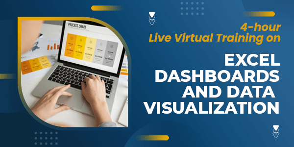 4-hour Live Virtual Training on Excel Dashboards and Data Visualization